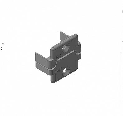 Заглушки алюминиевых П-профилей створки калиток секционных ворот (Петли слева)