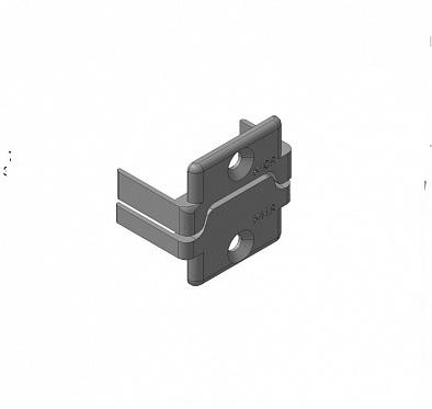 Заглушки алюминиевых П-профилей створки калиток секционных ворот (Петли справа)