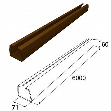 Балка прокатная 71х60 L=5470 RAL8017 ДорХан