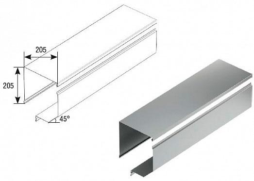 Короб защитный отогнутый RBN250 ДорХан