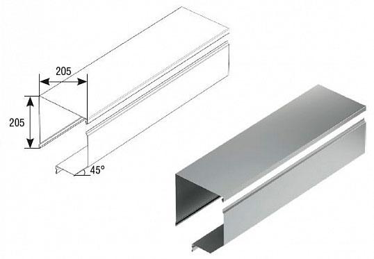 Короб защитный отогнутый RBN205 ДорХан