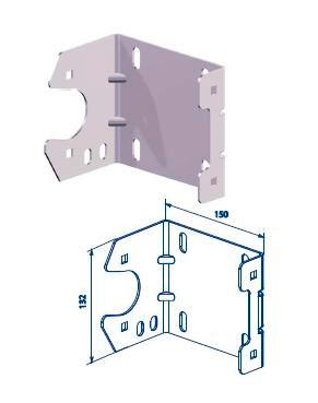 Кронштейн концевой опорный 70 x 4мм ДорХан