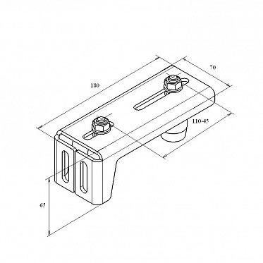 Направляющее устройство Revolution ( RAL9005) (Матовый Муар) ДорХан