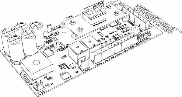 Плата управления PCB_SL24/V.1.0 -A с дисплеем ДорХан