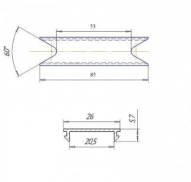 Проставка алюминиевая для решетчатого щита 91,5 мм ДорХан