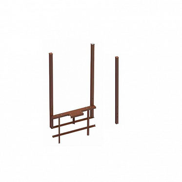 Рама стандартная ОЯС (основание, якорь, столбы) под бетонирование. Ширина проема 3000-5000 RAL8017 ДорХан