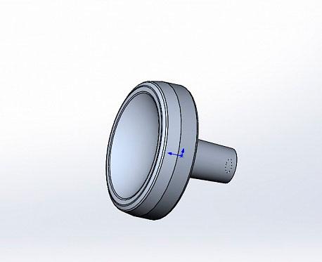 Ручка-кнопка для калитки отдельно стоящей ДорХан