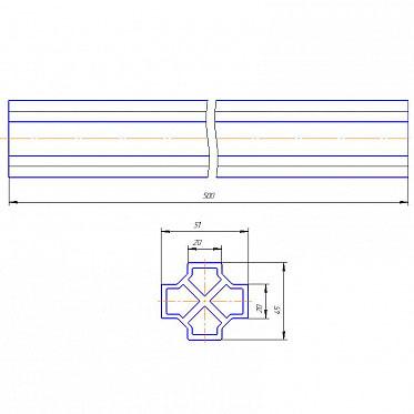 Соединитель несущего профиля для сдвижных ворот L=500мм ДорХан