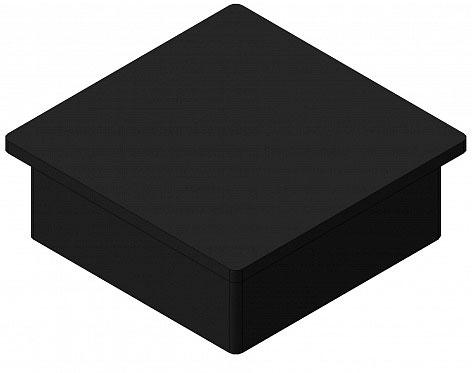 Заглушка квадратная пластиковая 100х100/RAL 9005 ДорХан